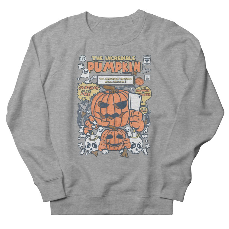 The Incredible Pumpkin Women's French Terry Sweatshirt by WackyToonz