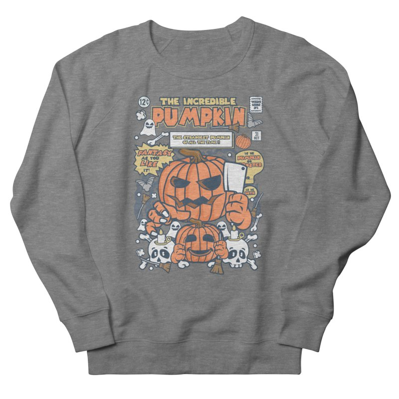 The Incredible Pumpkin Men's French Terry Sweatshirt by WackyToonz