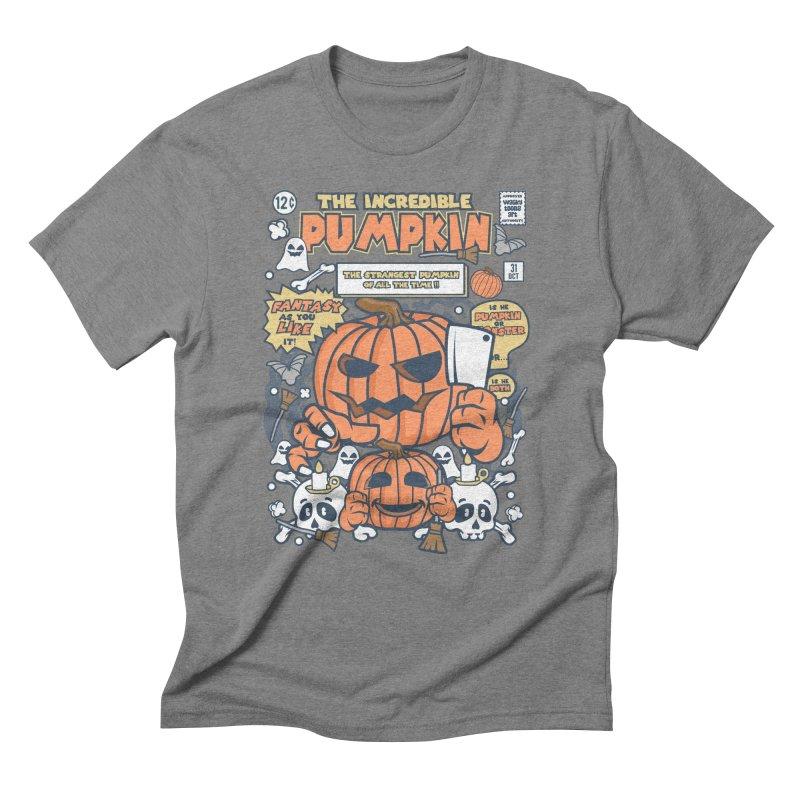 The Incredible Pumpkin Men's Triblend T-Shirt by WackyToonz