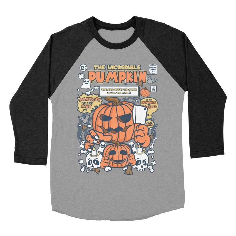 The Incredible Pumpkin Men's Baseball Triblend Longsleeve T-Shirt by WackyToonz