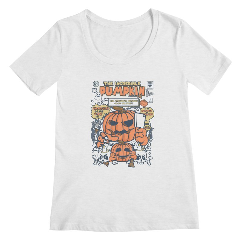 The Incredible Pumpkin Women's Regular Scoop Neck by WackyToonz
