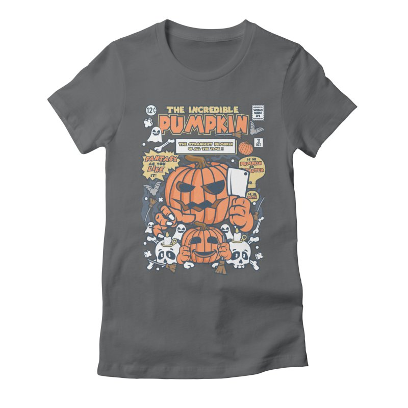 The Incredible Pumpkin Women's Fitted T-Shirt by WackyToonz
