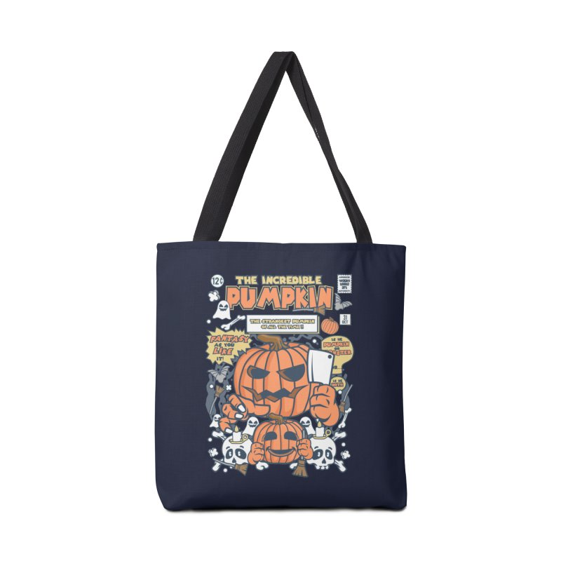 The Incredible Pumpkin Accessories Tote Bag Bag by WackyToonz