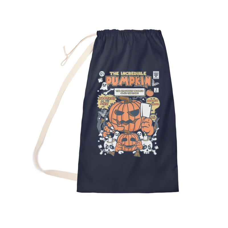 The Incredible Pumpkin Accessories Laundry Bag Bag by WackyToonz