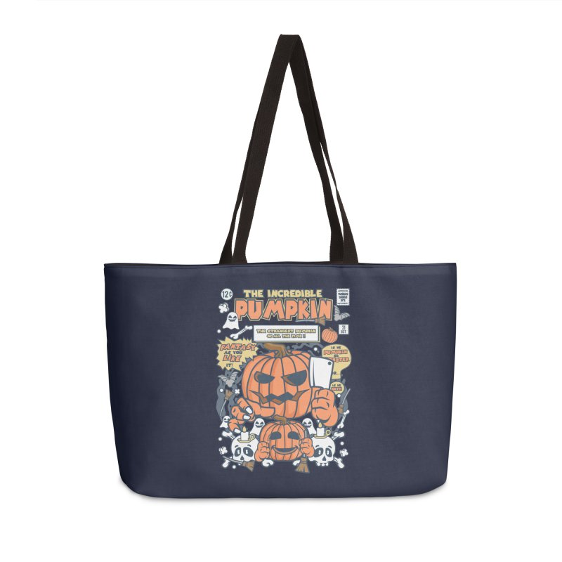 The Incredible Pumpkin Accessories Weekender Bag Bag by WackyToonz