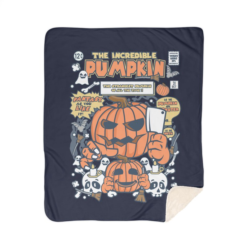 The Incredible Pumpkin Home Sherpa Blanket Blanket by WackyToonz