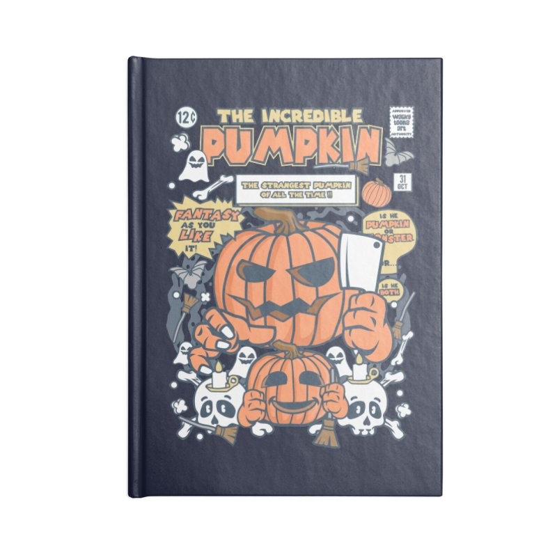 The Incredible Pumpkin Accessories Lined Journal Notebook by WackyToonz