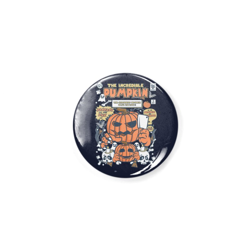 The Incredible Pumpkin Accessories Button by WackyToonz