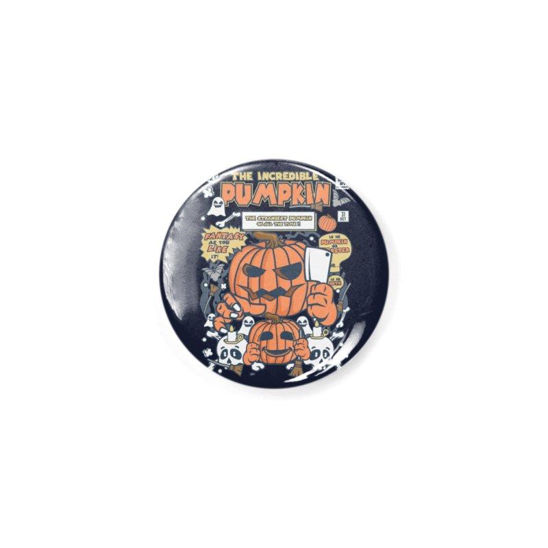 The Incredible Pumpkin Accessories Button by WackyToonz