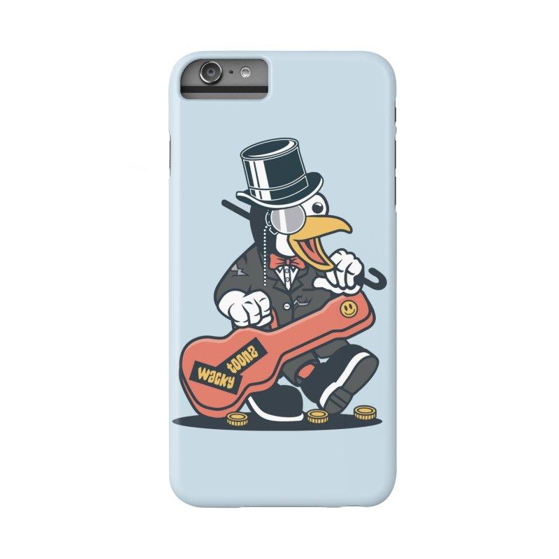 Penguin Busker Accessories Phone Case by WackyToonz