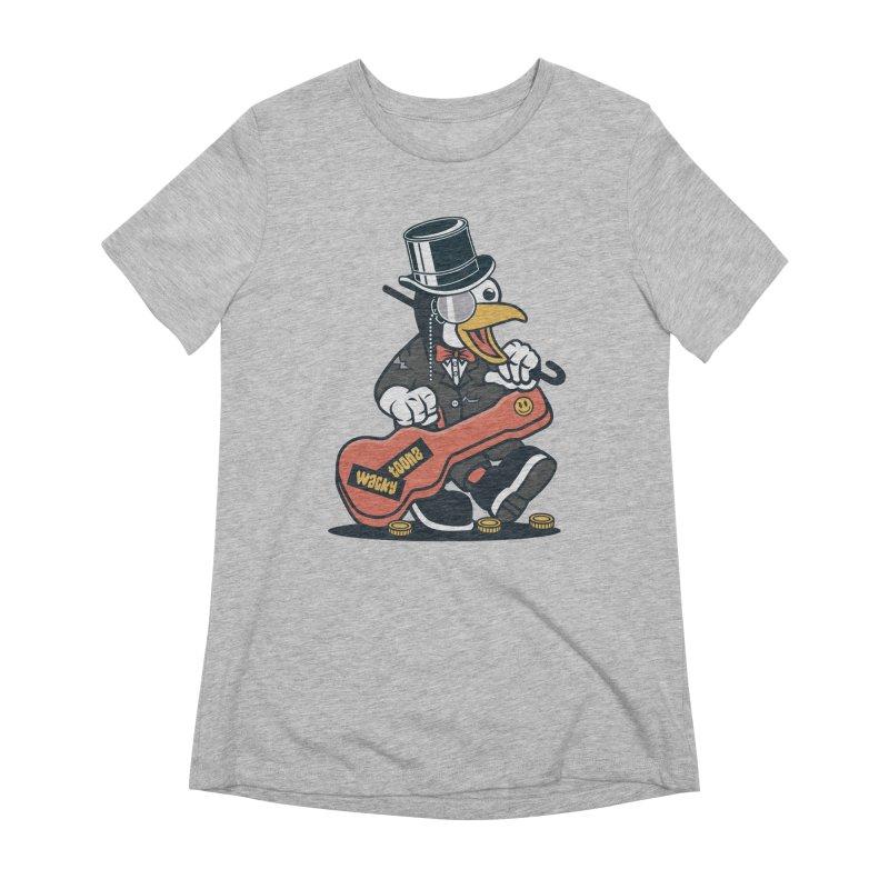 Penguin Busker Women's Extra Soft T-Shirt by WackyToonz