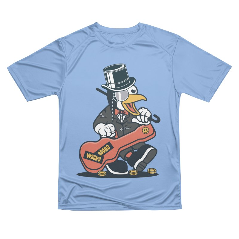 Penguin Busker Women's Performance Unisex T-Shirt by WackyToonz