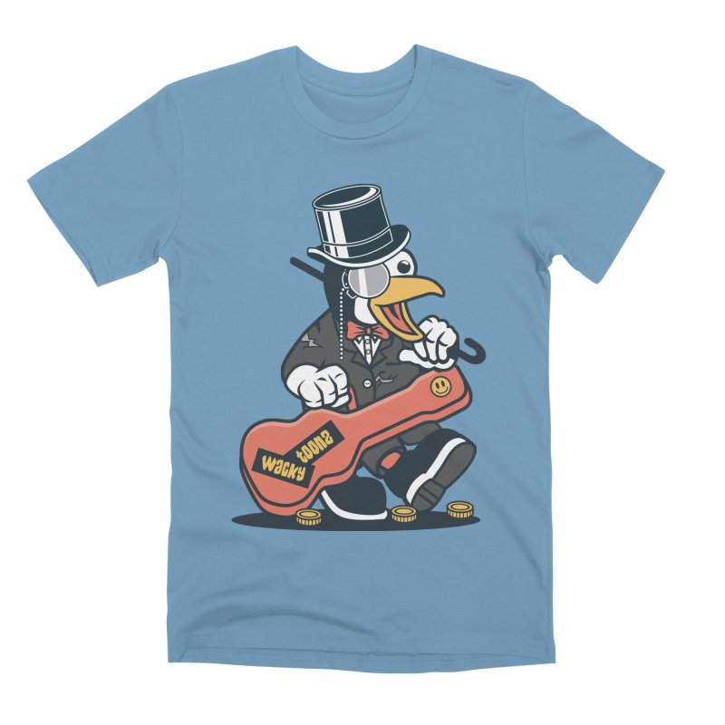 Penguin Busker Men's Premium T-Shirt by WackyToonz