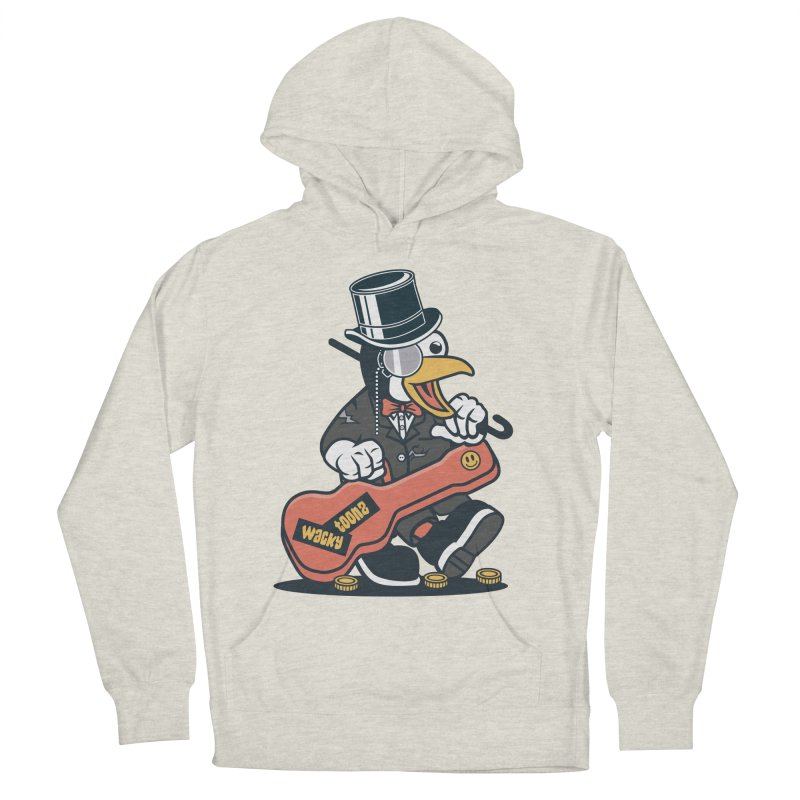 Penguin Busker Men's French Terry Pullover Hoody by WackyToonz