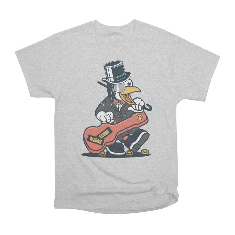 Penguin Busker Men's Heavyweight T-Shirt by WackyToonz