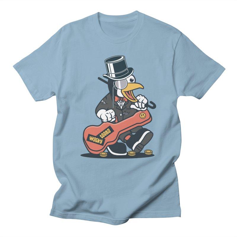 Penguin Busker Women's Regular Unisex T-Shirt by WackyToonz