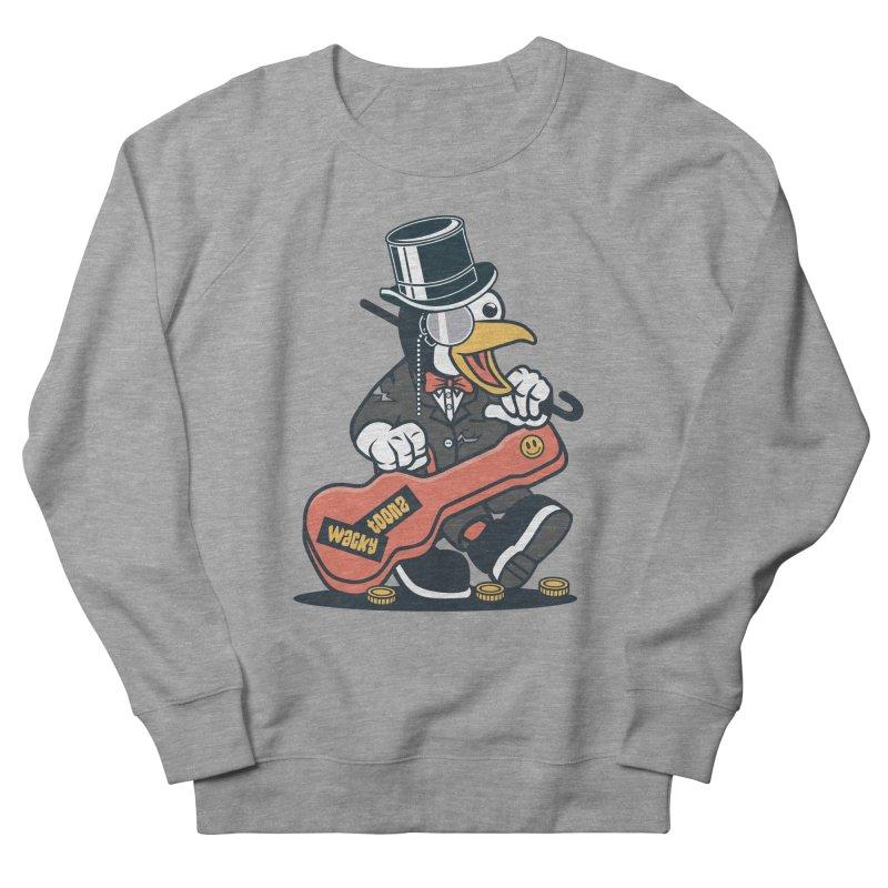 Penguin Busker Women's French Terry Sweatshirt by WackyToonz