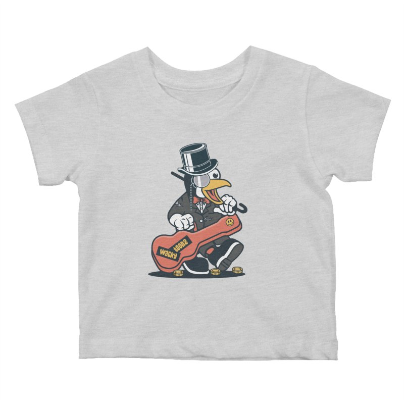Penguin Busker Kids Baby T-Shirt by WackyToonz