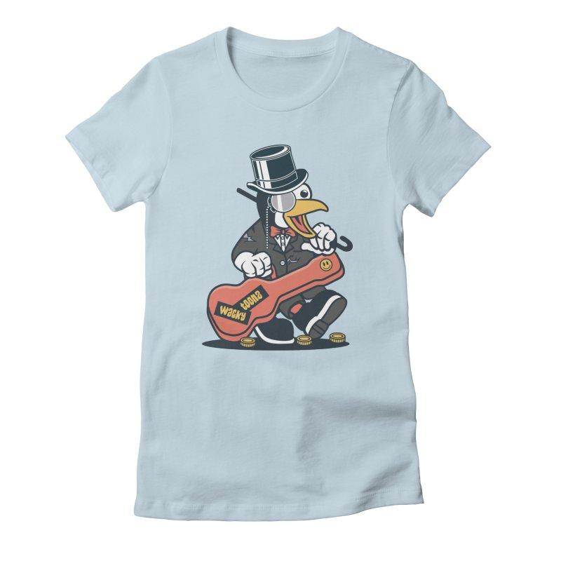 Penguin Busker Women's T-Shirt by WackyToonz
