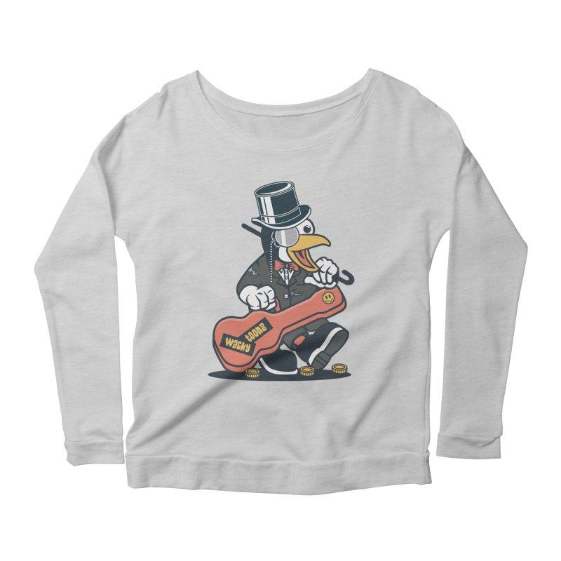Penguin Busker Women's Scoop Neck Longsleeve T-Shirt by WackyToonz