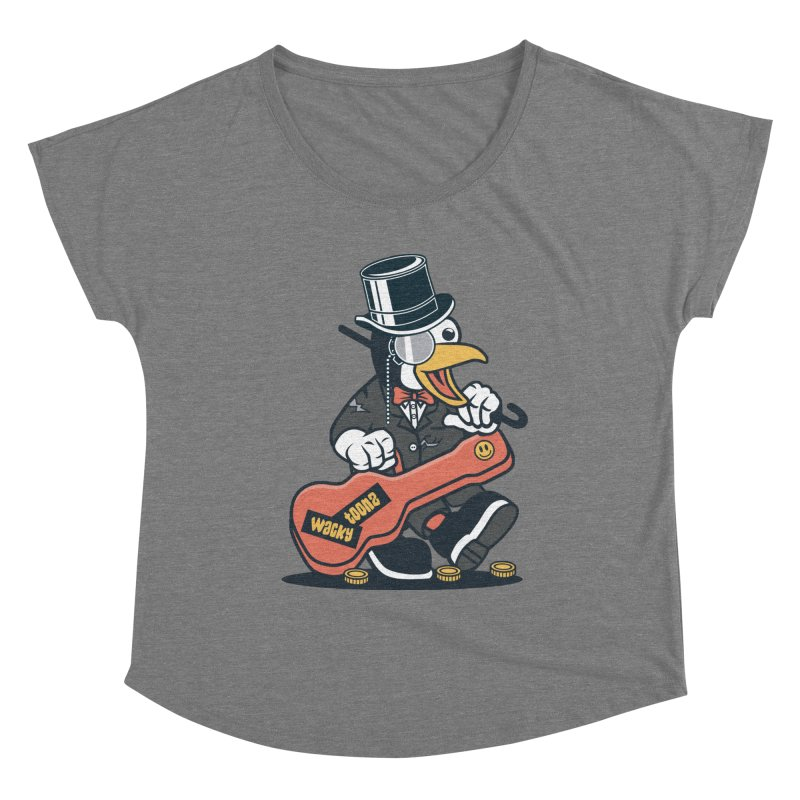 Penguin Busker Women's Scoop Neck by WackyToonz