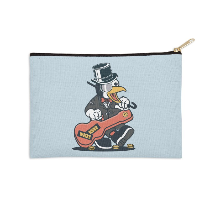 Penguin Busker Accessories Zip Pouch by WackyToonz