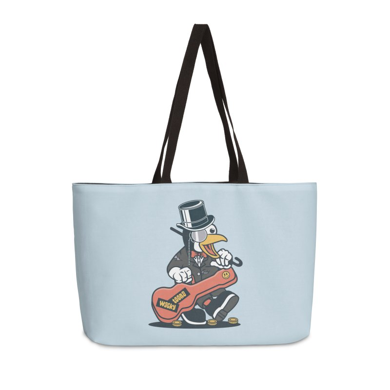 Penguin Busker Accessories Weekender Bag Bag by WackyToonz