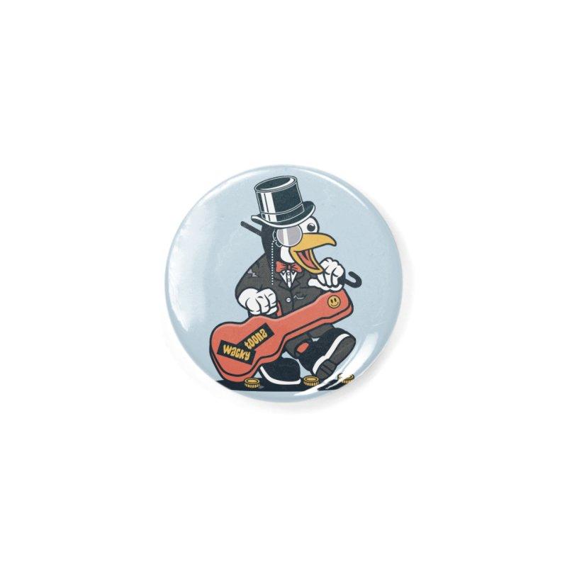 Penguin Busker Accessories Button by WackyToonz