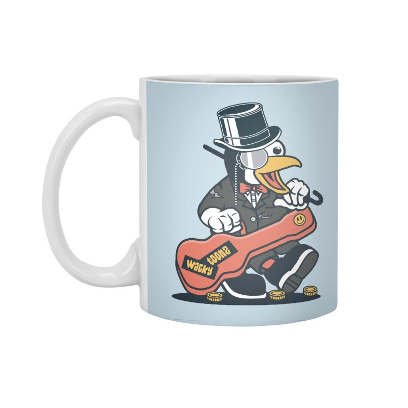 Penguin Busker Accessories Standard Mug by WackyToonz
