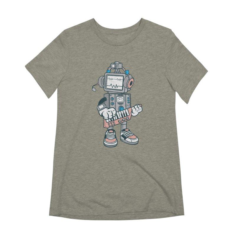 Synthwave Women's Extra Soft T-Shirt by WackyToonz