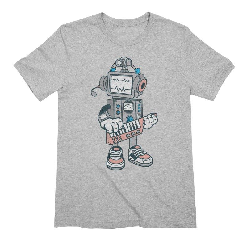 Synthwave Men's Extra Soft T-Shirt by WackyToonz