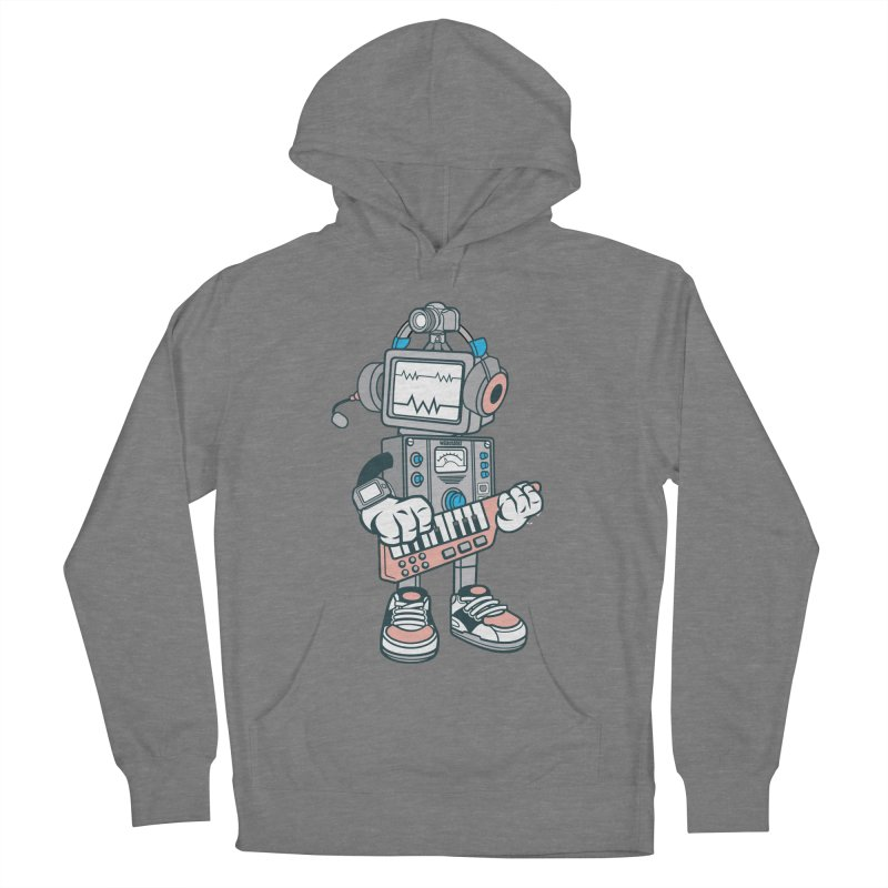 Synthwave Men's French Terry Pullover Hoody by WackyToonz