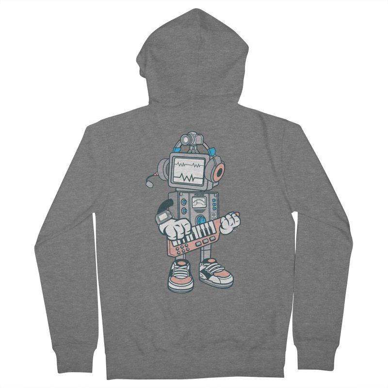 Synthwave Women's French Terry Zip-Up Hoody by WackyToonz