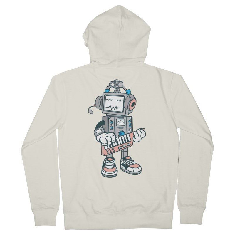 Synthwave Men's French Terry Zip-Up Hoody by WackyToonz