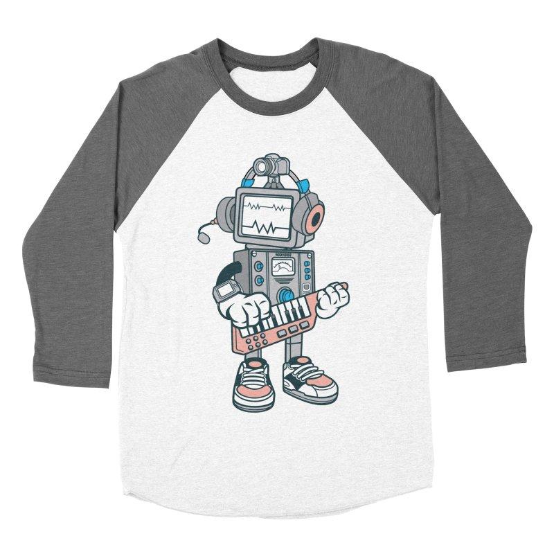 Synthwave Women's Baseball Triblend Longsleeve T-Shirt by WackyToonz