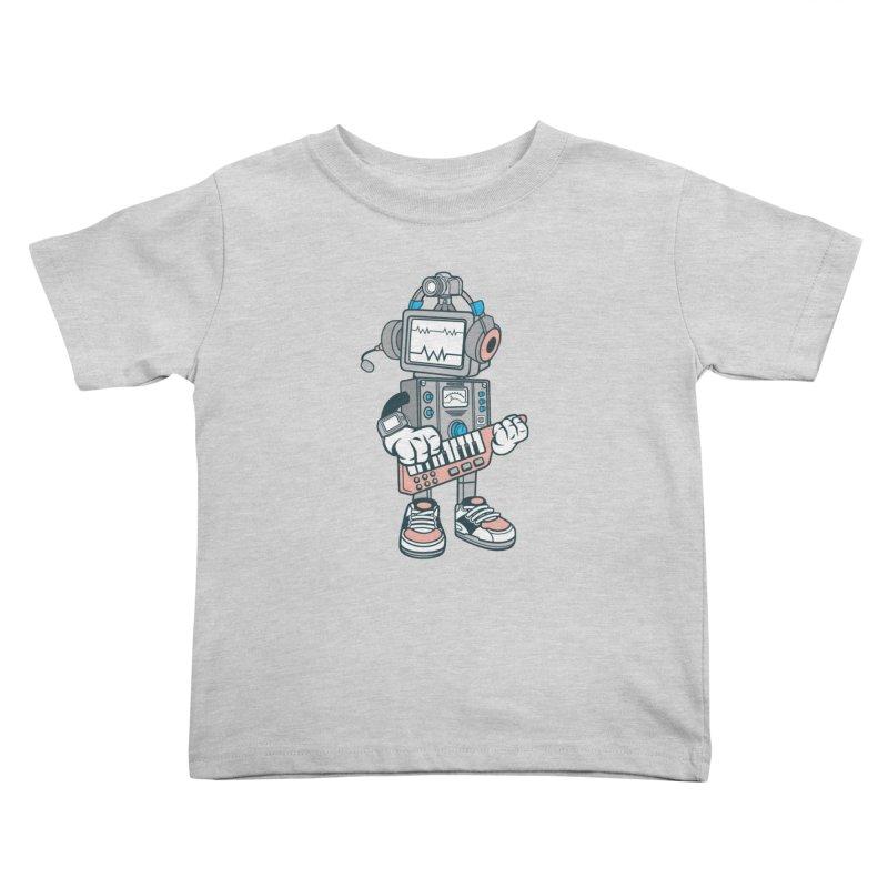 Synthwave Kids Toddler T-Shirt by WackyToonz