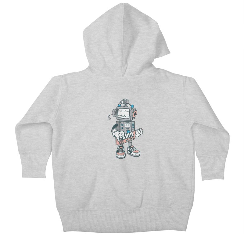 Synthwave Kids Baby Zip-Up Hoody by WackyToonz