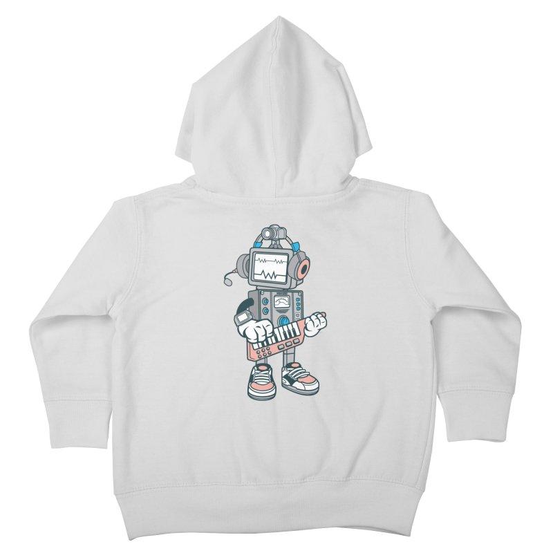 Synthwave Kids Toddler Zip-Up Hoody by WackyToonz