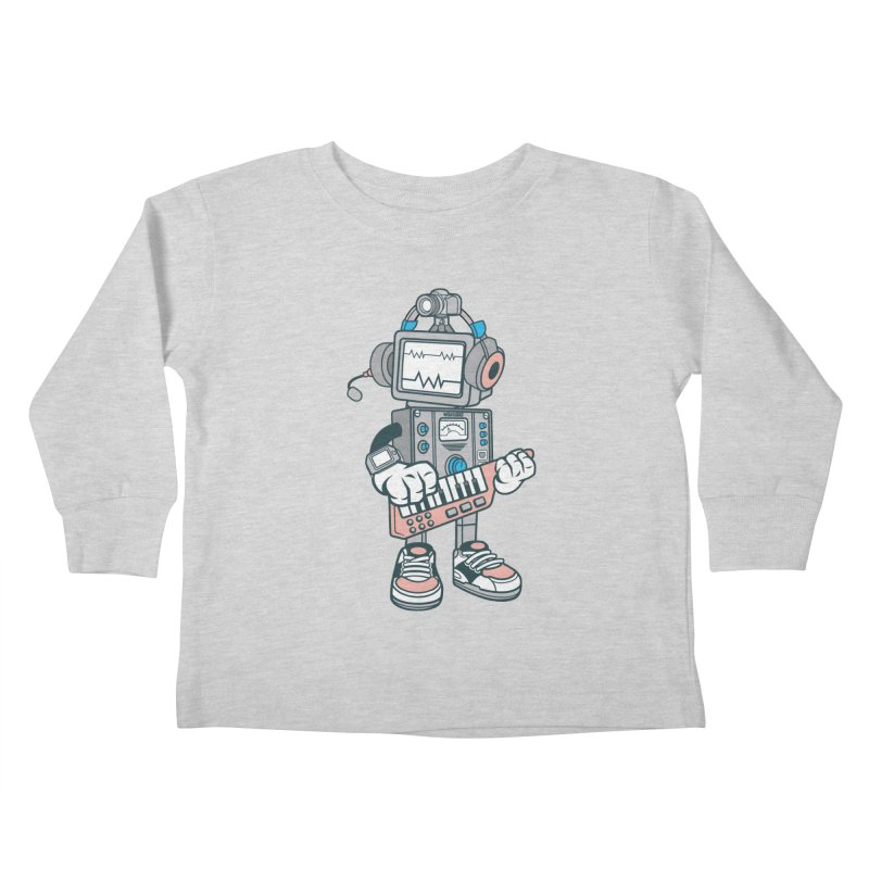 Synthwave Kids Toddler Longsleeve T-Shirt by WackyToonz