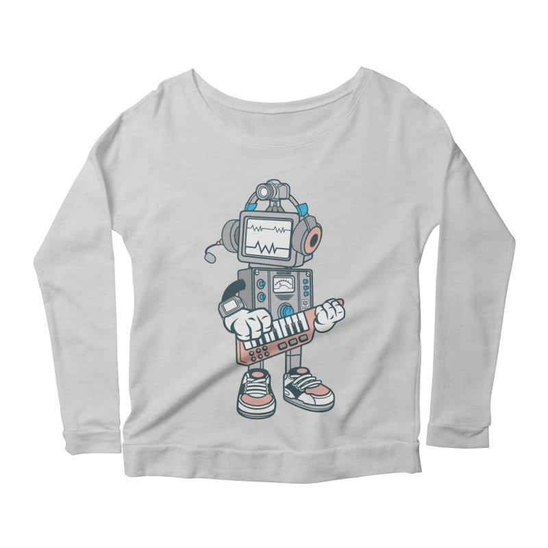 Synthwave Women's Scoop Neck Longsleeve T-Shirt by WackyToonz