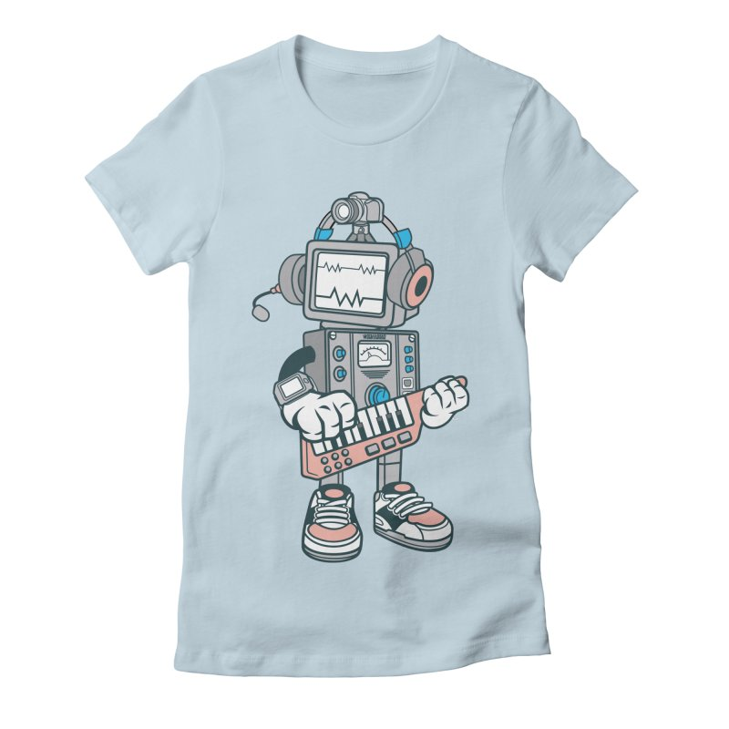 Synthwave Women's Fitted T-Shirt by WackyToonz