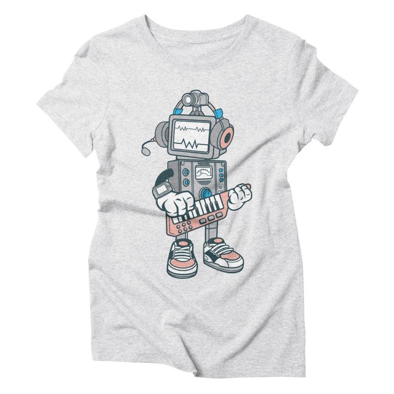 Synthwave Women's Triblend T-Shirt by WackyToonz