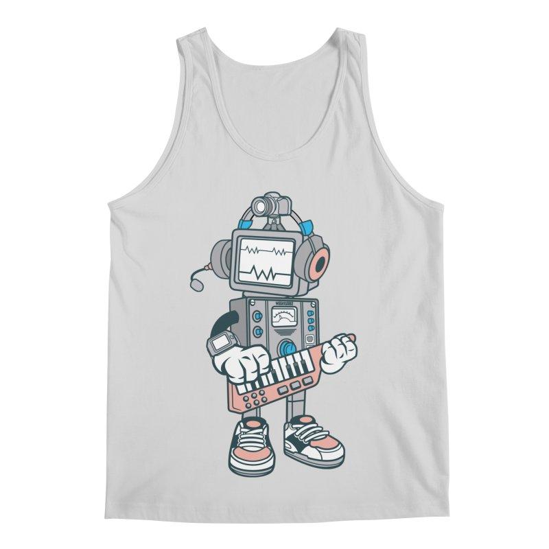 Synthwave Men's Regular Tank by WackyToonz