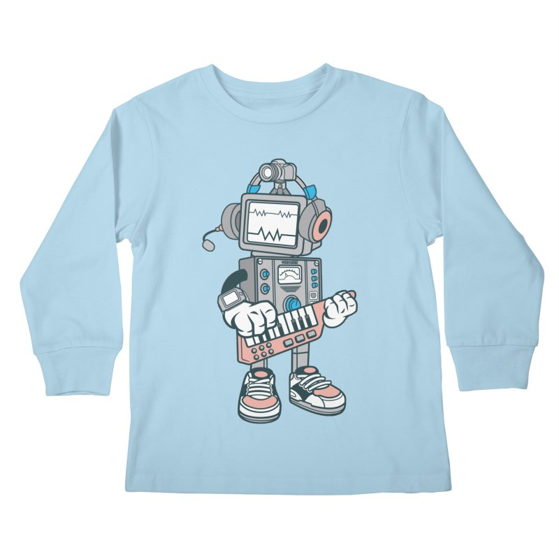 Synthwave Kids Longsleeve T-Shirt by WackyToonz