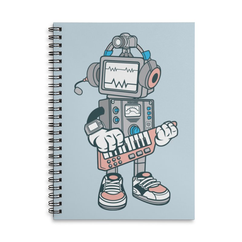 Synthwave Accessories Lined Spiral Notebook by WackyToonz