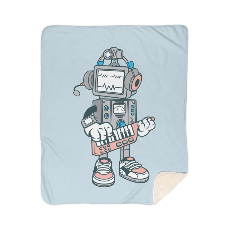 Synthwave Home Blanket by WackyToonz