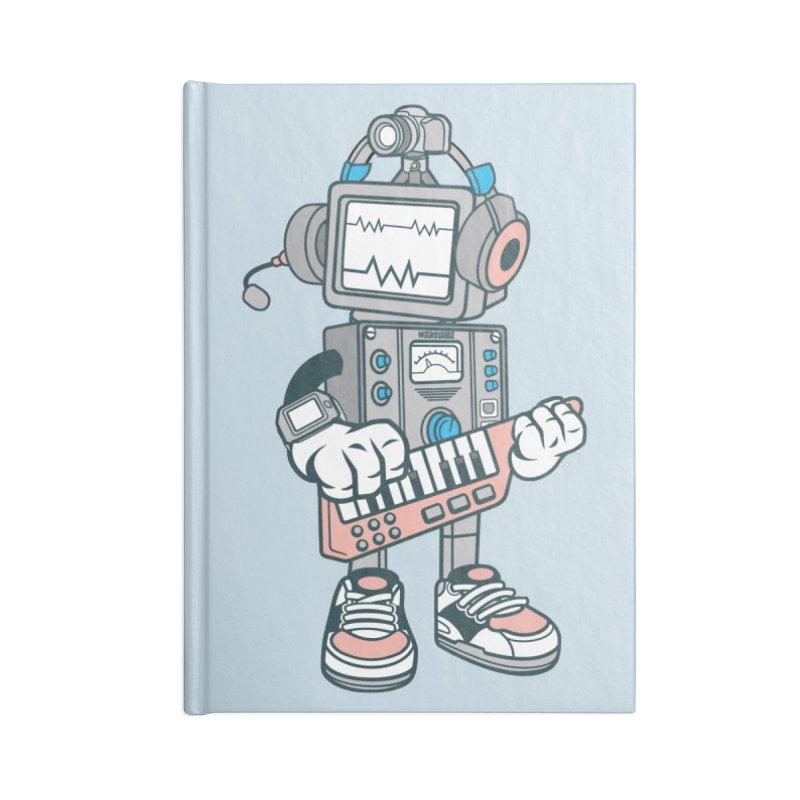 Synthwave Accessories Blank Journal Notebook by WackyToonz