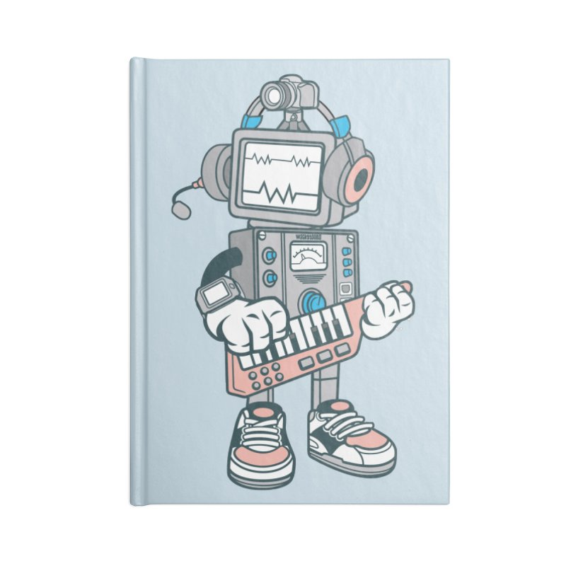 Synthwave Accessories Lined Journal Notebook by WackyToonz