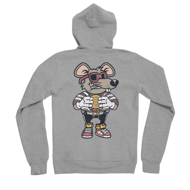 Rat Burglar Men's Sponge Fleece Zip-Up Hoody by WackyToonz