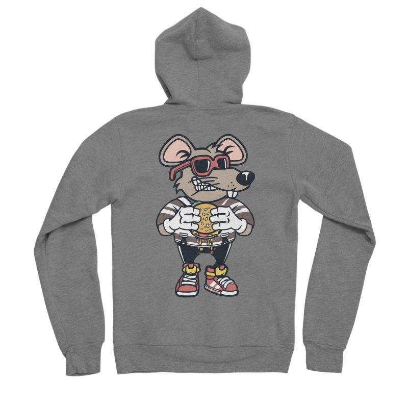 Rat Burglar Women's Sponge Fleece Zip-Up Hoody by WackyToonz